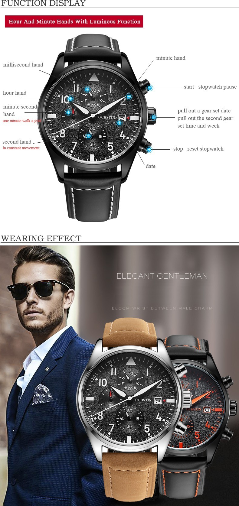 Zegarek Ochstin Infinity Czarny 8