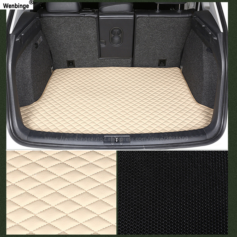 wenbinge car trunk mat For for Hyundai All Models i30 ix25 ix35 solaris elantra terracan accent azera custom cargo liner car pad custom fit car trunk mat for hyundai ix25 ix35 elantra santafe solaris tucson verna veloster car styling tray carpet cargo liner