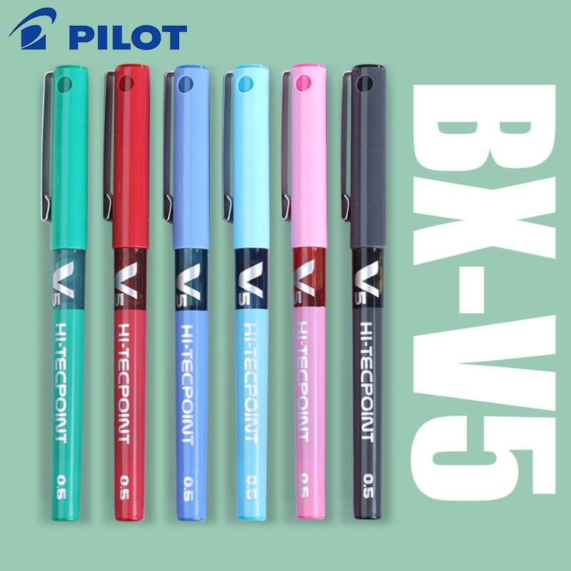 7 stks / partij Japan Pilot V5 Vloeibare Inkt Pen 0.5mm 7 Kleuren kiezen BX-V5 standaard pen kantoor en school briefpapier stylo