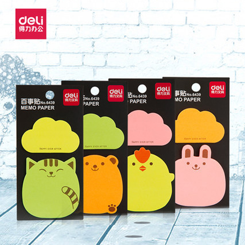 2Pcs Animal Deli Sticky Notes Post It Paper Memo Pad Office School Supplies Stationery
