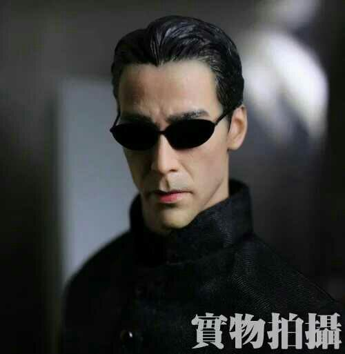 Keanu Reeves head carved 1/6 scales Action Figure network hacker man Soldier head sculpt model toys kids diy collection doll toy