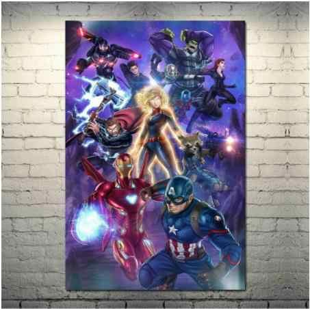 Мстители конец игры Капитан Америка Железный человек Тор фильм о супергероях искусство стены холст плакат