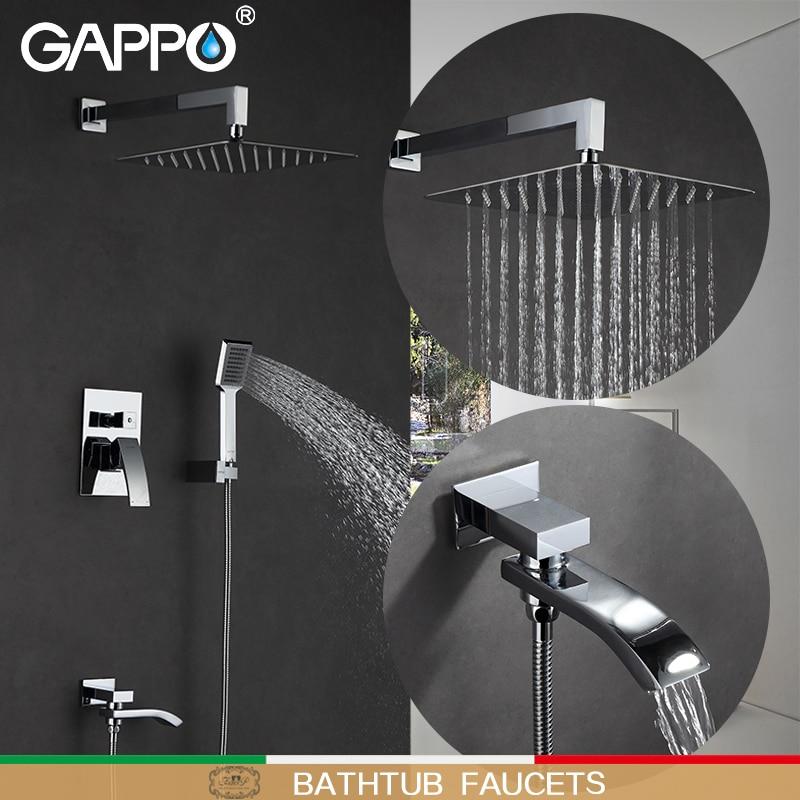 GAPPO Bathtub Faucets bathroom tap bath faucet mixer rainfall shower faucets shower taps bathtub faucet bathroom shower set gappo bathtub faucet rainfall shower tap bathroom faucet mixer taps bath set waterfall faucets bathub set