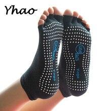 Yhao Yoga Toeless Socks Non-Slip Ankle Grip For Women Professional Pilates Fitness Gym Sports