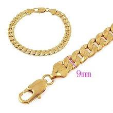 Модный браслет с желтым золотом и длинной цепочкой 83 дюйма