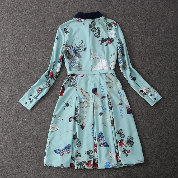 2019 Partie Ws0340 Mode Qualité Robe Femmes Luxe Marque Style Supérieure De Européenne Printemps Design Nouvelle qx7wA76