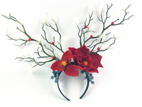Bridal Tiara Mori Ragazza dipartimento del Albero Cerchio Dei Capelli Accessori Per Capelli Corna di Natale Accessori Per Capelli Partito Copricapo