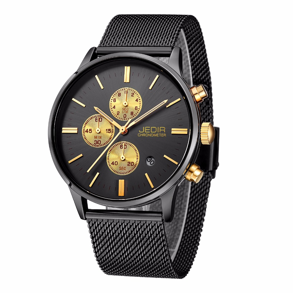 JEDIR 2017 New Luxury Brand Watches Men Casual Quartz Watch Business Full Stainless Steel Analog Sport Watch Relogio Masculino feitong luxury brand men dress watches full stainless steel men s analog quartz watch table relogios masculino hombre clock new