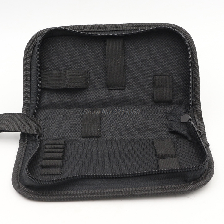 Black Multi-functional Canvas Watch Repair Portable Tool Bag Zipper Storage Whosale&Dropship