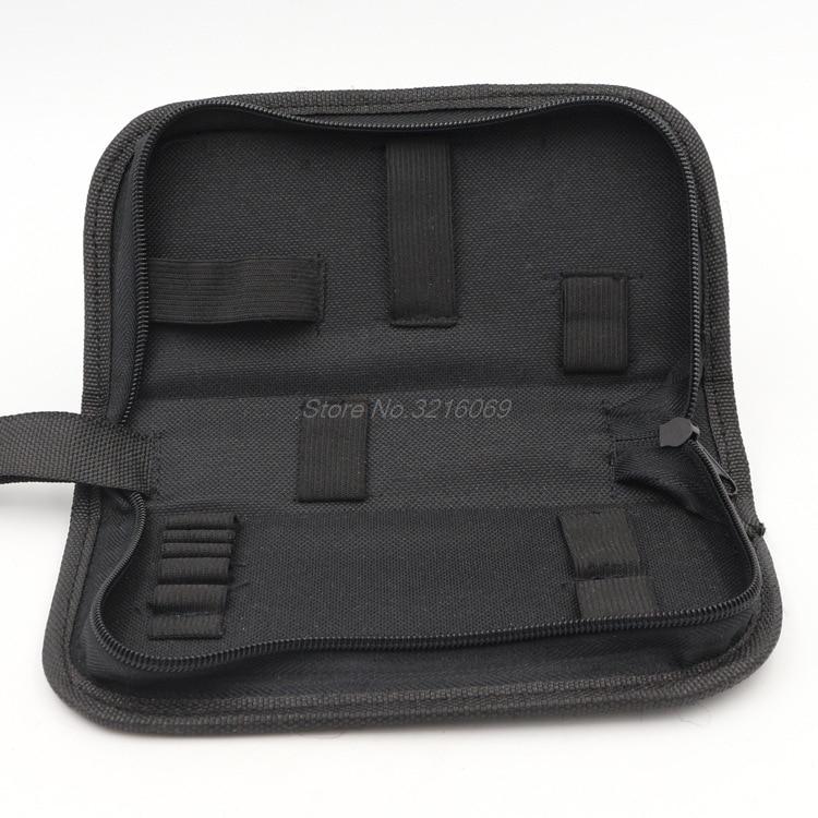 Black Multi-functional Canvas Watch Repair Portable Tool Bag Zipper Storage Whosale&Dropship
