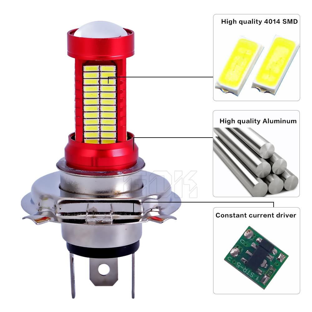 1 개 자동차 Led 안개 램프 H7 H4 106smd 4014 Led 칩 30 와트 - 자동차 조명 - 사진 4