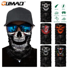 3D Skeleton Skull Seamless Magic Neck Gaiter Face Shield Fishing Cycling Fishing Bike Bandana Headband Tube Scarf Men Women Mask(China)