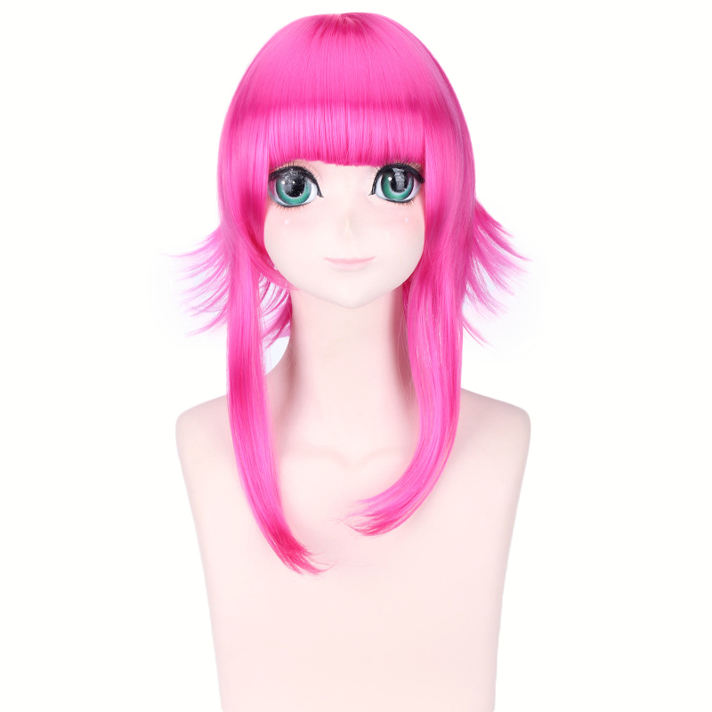Game Character Annie Hastur Rose Red Wig Cosplay Costume Women Heat Resistant Synthetic Hair Halloween Party Wigs