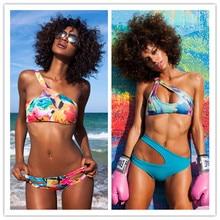 96083045a3 swimwear women monokini vintage high waist bras bandage top deive teger  brief dress discounts leotards bikini