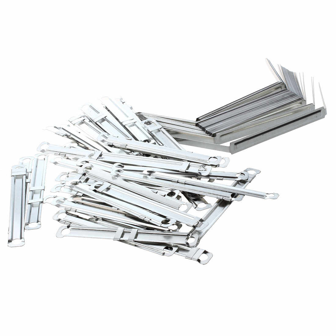 50 Sets Metal Office Fasteners Clips for Paper File