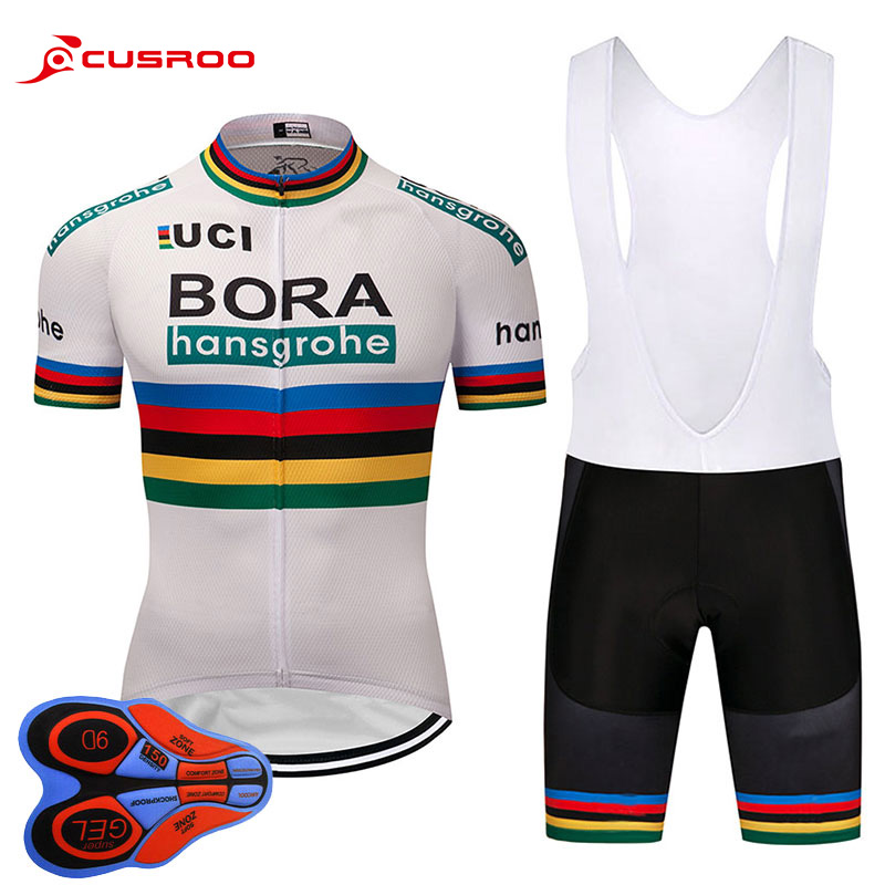 2018 NEW bora Cycling jersey 9D gel bike shorts set Ropa Ciclismo mens summer team pro BICYCLING wear Maillot Culotte
