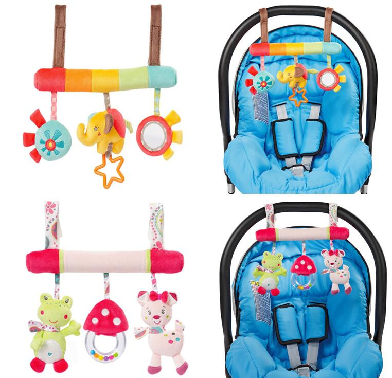 JJOVCE Baby Toy BedStroller Car Seat Hanging Educational Rattle Plush Animal Elephant Toys For Newborns Gifts 40 Off In Rattles Mobiles From