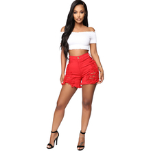 2019 summer new hot denim shorts fashion sexy personality hole washed old womens jeans