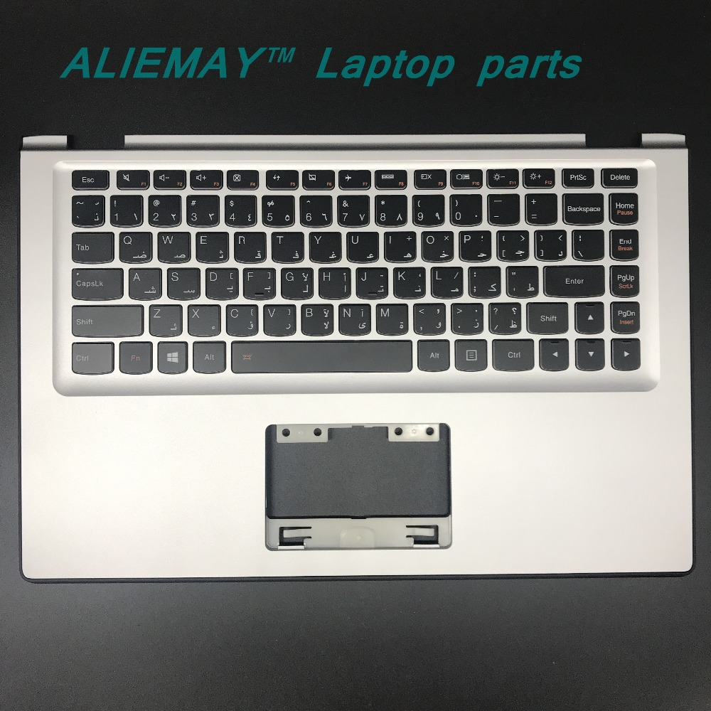 Laptop parts for LENOVO YOGA 2 13 Yoga2-13  SILVER Palmrest  with Backlit ARAB Keyboard 90205138 new original lenovo yoga 4 pro yoga900 palmrest keyboard with backlit bezel cover touchpad cable