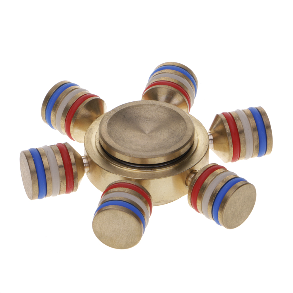 Rudder ADHD Anxiety Autism Stress Reducer Fidget Hand Six Spinner EDC Toy Gift Random