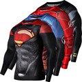 T-shirt dos homens ou das Mulheres S-4XL Casual Superman Spiderman Batman Homem de ferro 3d Impressão de Manga Comprida O Pescoço Tops Mais tamanho