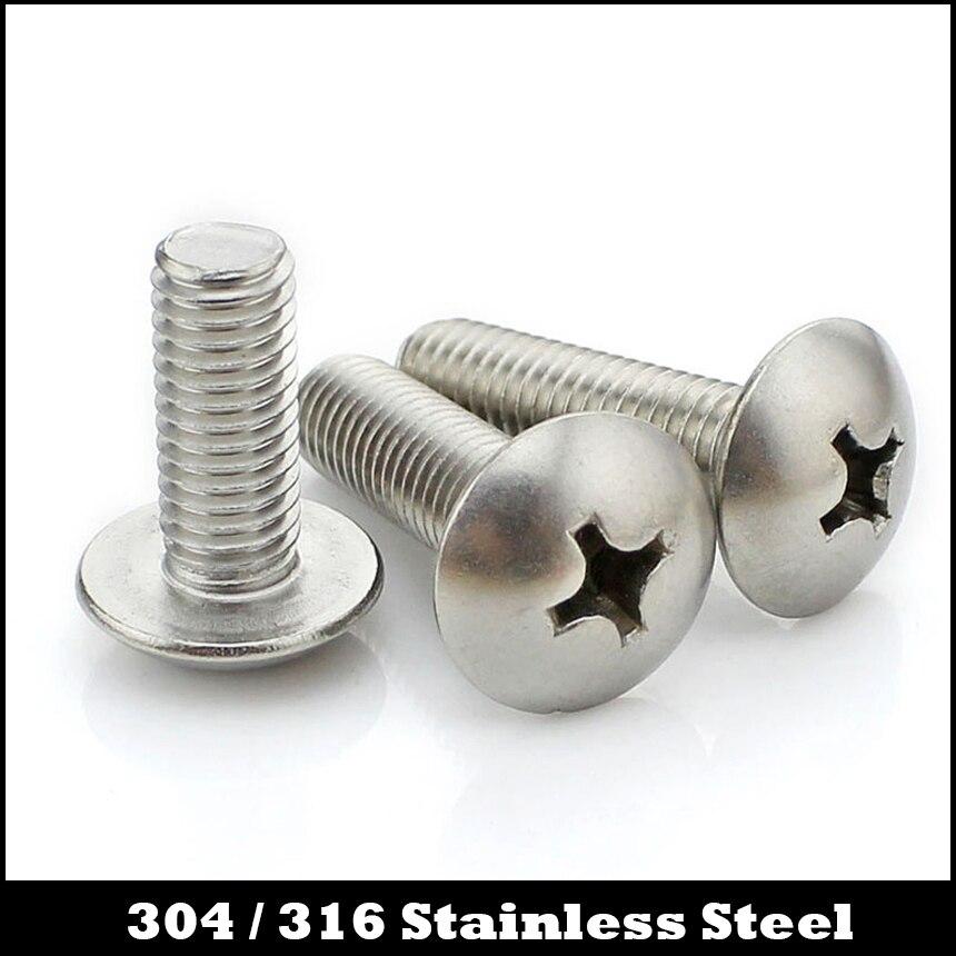 M6*30 M6x30 M6*35 M6x35 M6*40 M6x40 M6*45 M6x45 304 316 Stainless Steel Philips Cross Recessed Round Truss Mushroom Head Screw 20pcs din7991 m6 10 12 16 20 25 30 35 40 45 50 m6 torx tamper proof security screw m5 a2 stainless steel anti theft screws