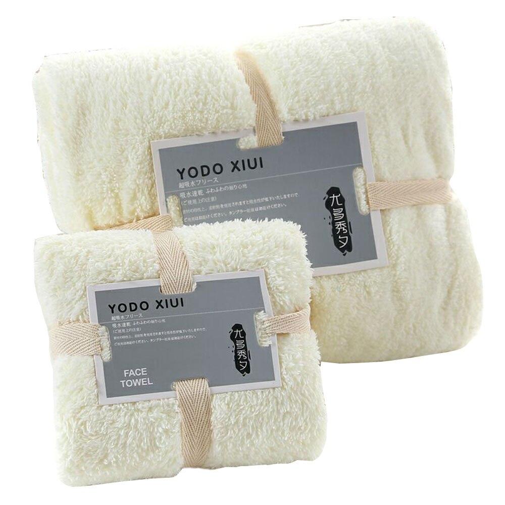 70X140 см, 4 цвета, набор полотенец для сна, полотенце для мытья, мягкое банное полотенце для лица, теплое полотенце для ванной, комплект утепленных принадлежностей для душа, хлопок - Цвет: creamy yellow