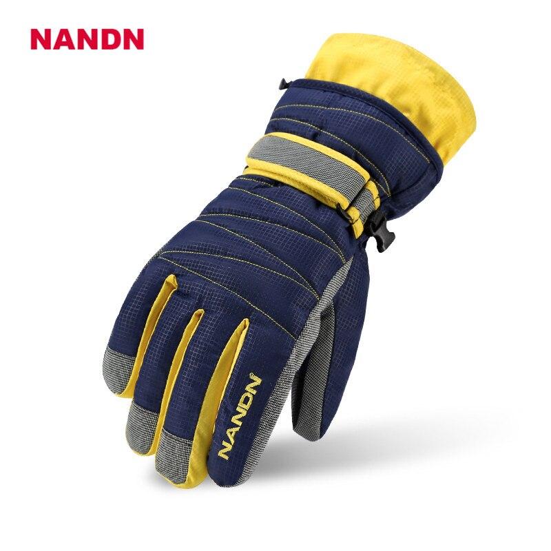 Men Winter Gloves Women Skiing Glove Adults Motorcycle Nandn Professional Snowboard Waterproof Windproof Unisex Gloves NS5002