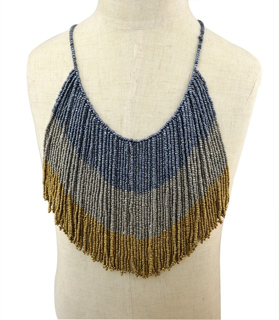 fashion bohemian maxi colar statement necklaces vintage handcrafted