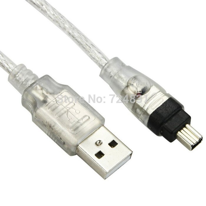 Cy usb männlichen firewire ieee 1394 4 pin stecker ilink adapter ...