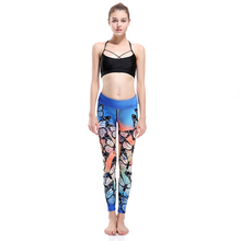New LOVE SPARK Beautiful Battlefly Girls Sport Yoga Leggings Breathable Fast Dry Gym Running Yoga Pants S TO 3XL