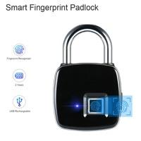 Smart Keyless Отпечатков Пальцев Биометрический замок водонепроницаемый замок с отпечатком пальца безопасности сенсорный замок без ключа USB зар...