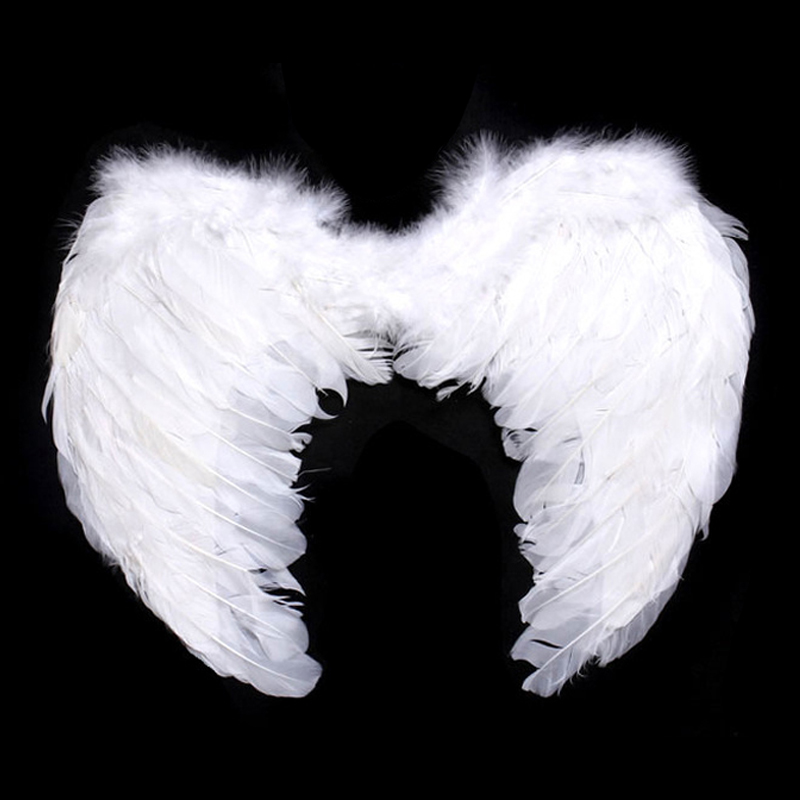 Kids Adults Feather Fairy Angel Wings Hen Christmas Party