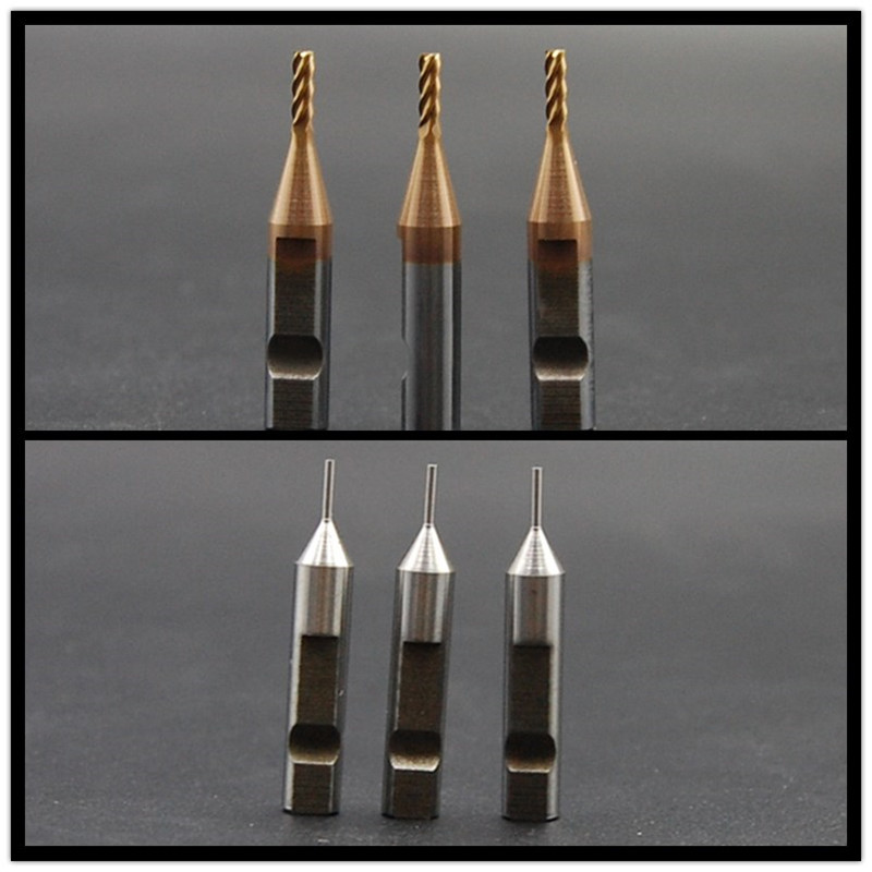 3pcs 2 0mm end milling cutter and 3pcs 1 0mm probe for V8 X6 automatic key