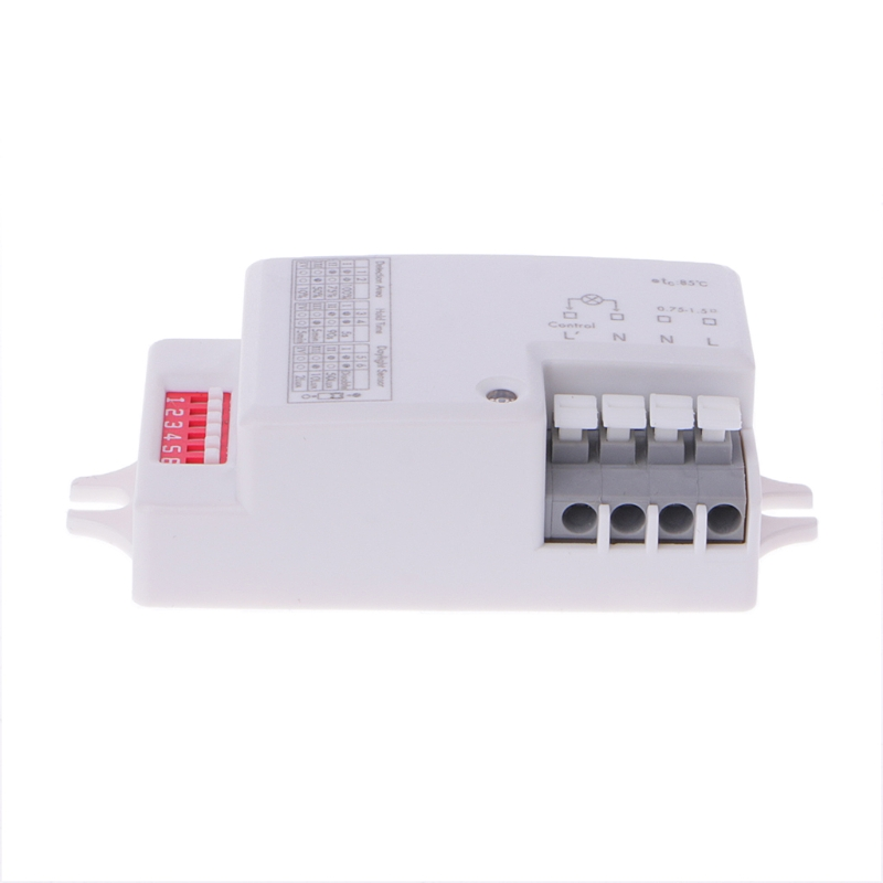 OOTDTY AC 220V-240V/50Hz Microwave Radar Sensor Body Motion Detector Switch For LED Light купить недорого в Москве