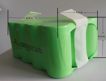 (Per il Modello A320, A325, A330, A335, A336, A337, A338, A590) robot Aspirapolvere Batteria, DC14.4V, 2200 mAh, Ni-Mh, 1 pz/pacco