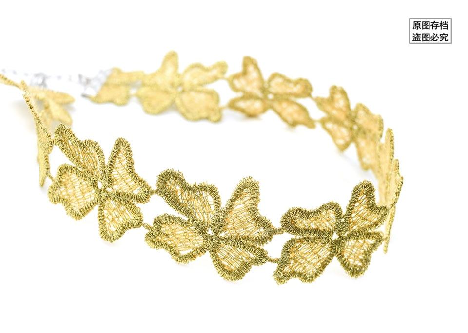 Berühmte Marke Modeschmuck Gold Farbe Handgemachte Häkelarbeit blume ...