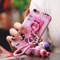 Funny DIY Customization Cartoon Pink Bell Stitch Kit Case For Iphone 6 6splus Phone Case Silicone