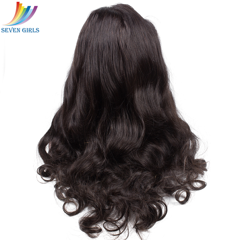 Sevengirls Brazilian Natural Wave Full Lace Human Hair Wigs 8-30 Inch Natural Color Human Hair Wigs With Baby Hair Free Shipping