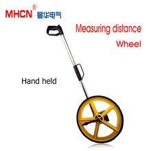 Бесплатная доставка Складной колесо дальномер 0-9999 М long distance meter измерительные колеса