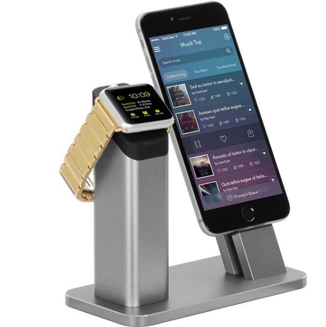 En Alliage d'aluminium Charge Stand smartphone support d'affichage De Bureau affichant démo Support pour iPhone 6 7 8 iPad Android Apple Montre