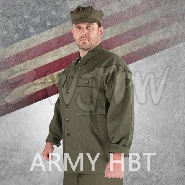 WW2 US Army Green HBT UNIFORM PURE COTTON OUTDOOR UNIFORM-in Hiking ... 69d274aebbbc