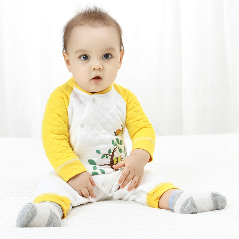 Newborn Baby Boys Baby Rompers Soft Baby Boys Romper Warm Cotton Baby Jumpsuit for Kids Boys Costumes in Rompers from Mother Kids