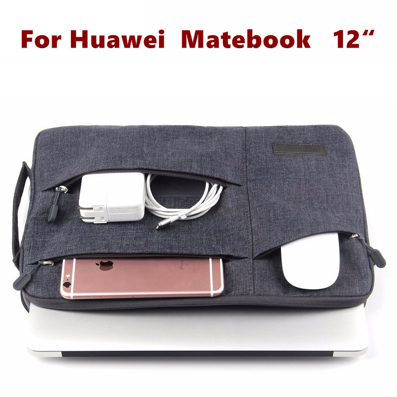 Fashion Sleeve Bag For Huawei MateBook 12 inch HZ-W09 HZ-W19 Tablet Laptop Pouch Case Handbag Protective Skin Cover Stylus Gift luxury print fold stand pu leather skin magnetic closure case protective cover for huawei matebook hz w09 hz w19 12 inch tablet