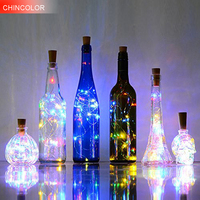 10pcs Holiday Lights 20LED Bottle Lantern Button Battery Include Led Light String Chrismas Wedding Valentine Day