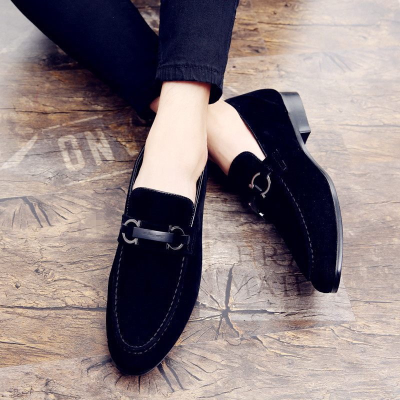 Hot Man Leather Casual Sneakers Designer Slip-on Men Walking Shoes High Quality Young Casual Leather Shoe Luxury Brand Men Shoe