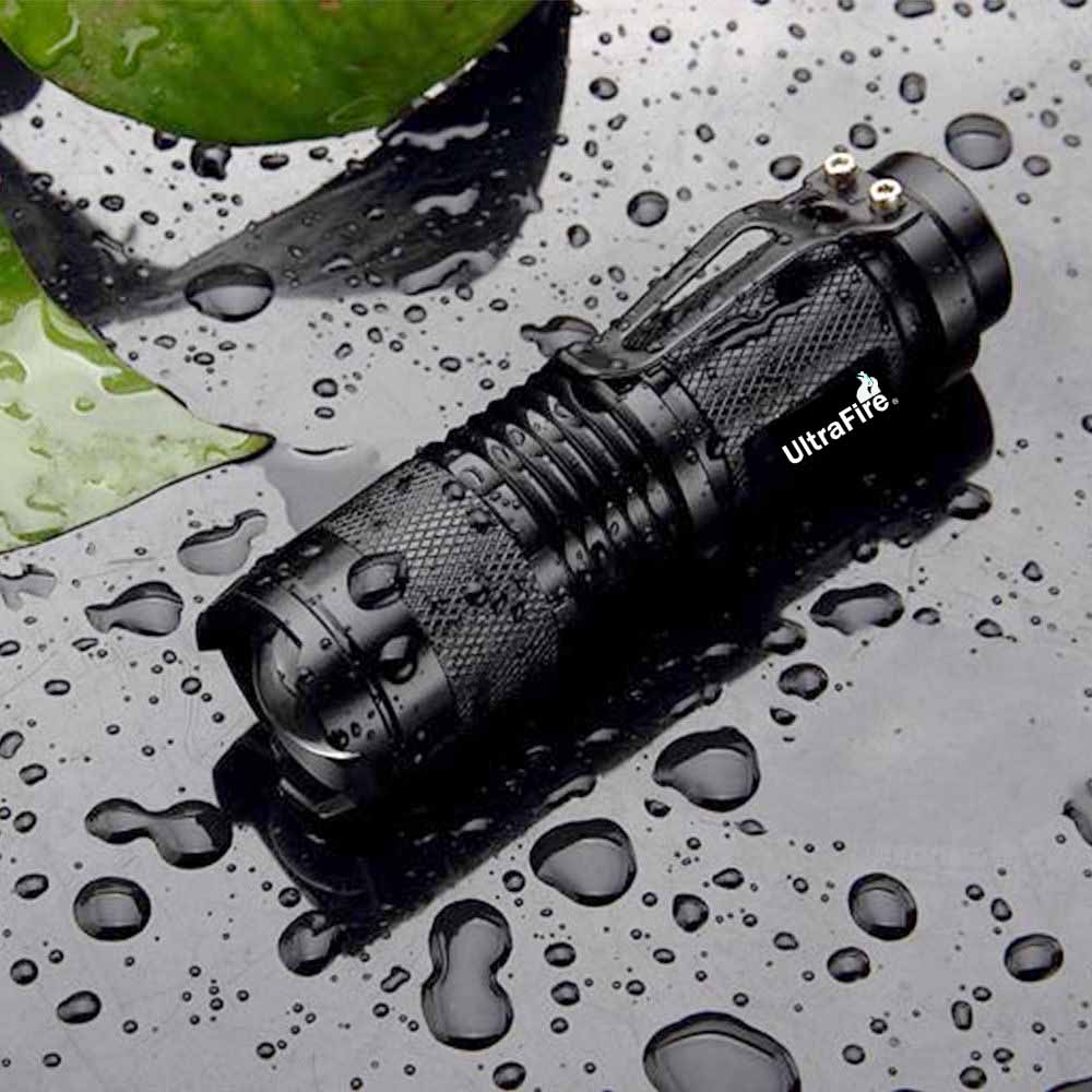 Ultrafire sk98 led lanterna cree XML-T6 18650 lanterna 5 modo tático zoom tocha caça led lâmpada luz