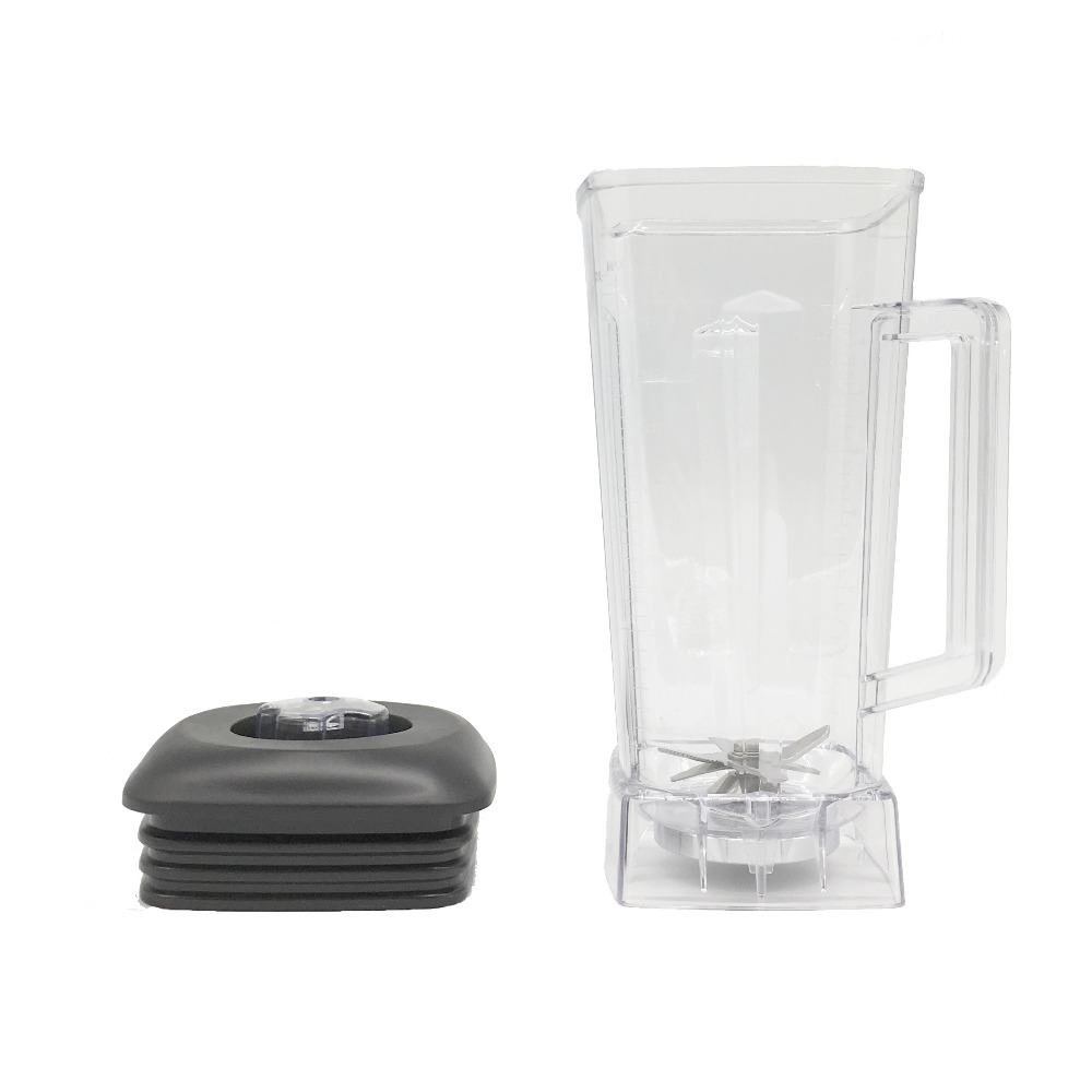 commercial Blender spare parts BPA FREE 2L Square Container Jar Jug Pitcher Cup bottom with serrated smoothies blades lid (9)