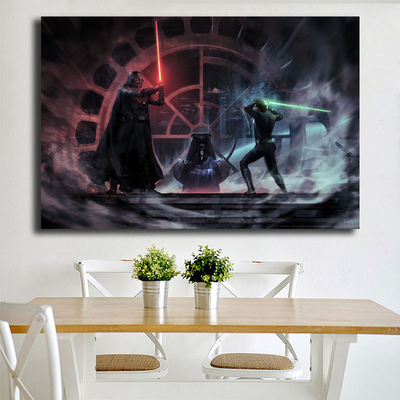 Star Wars Father Vs Son Luke Vader Canvas Posters Prints Wall Art Painting Decorative Picture Modern Home Decoration Accessories image