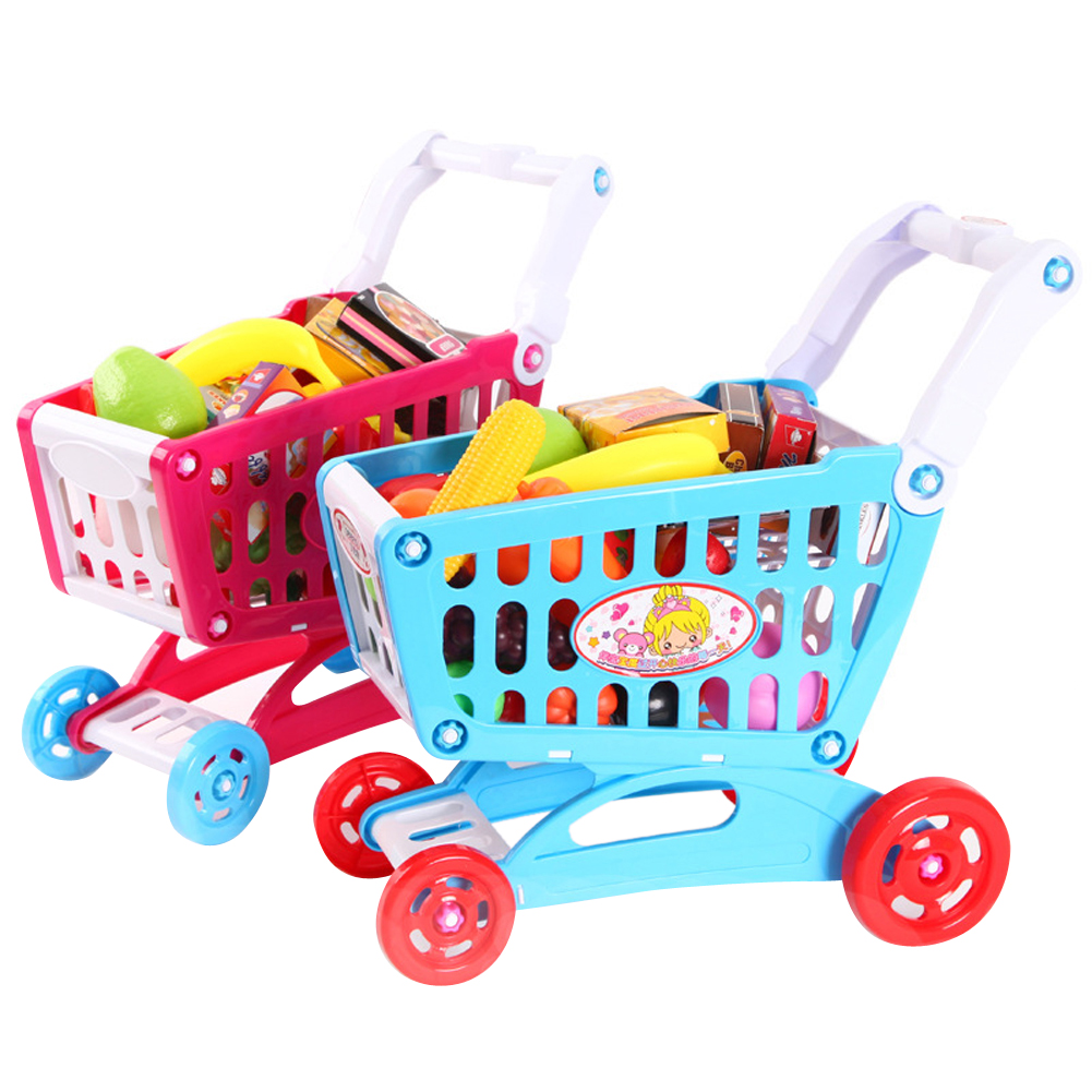 Simulation Shopping Cart Toy Mini Pretend Play Trolley Toy Baby Kids Indoor Play House Playhouse Toy Nice Birthday Xmas Gift ultra thin tpu protective case for 4 7 inch screen iphone 6 translucent black